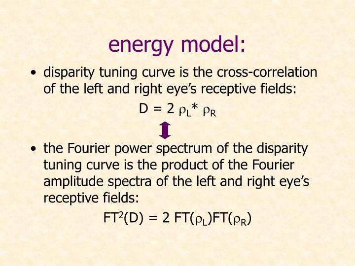energy model: