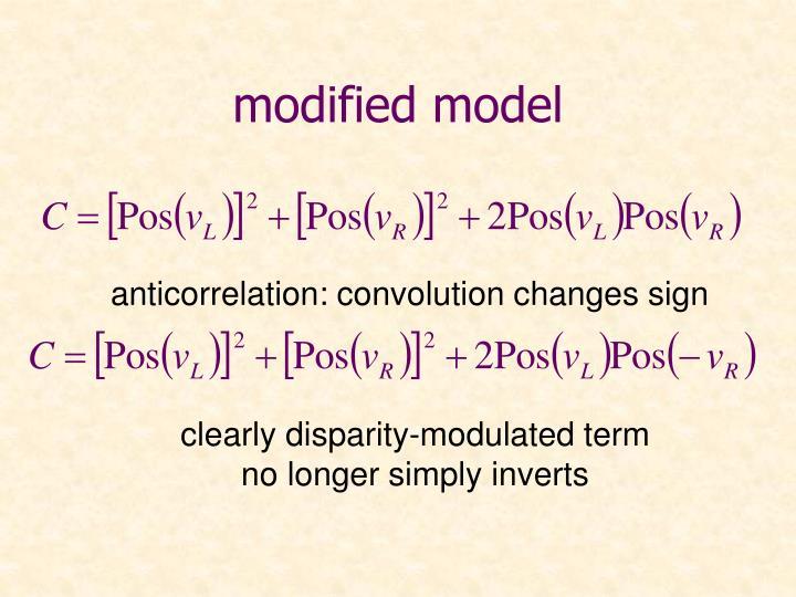 modified model