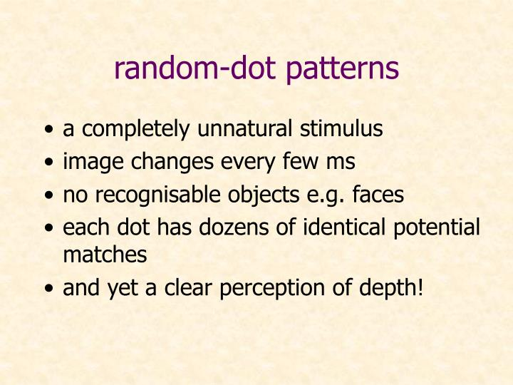 random-dot patterns