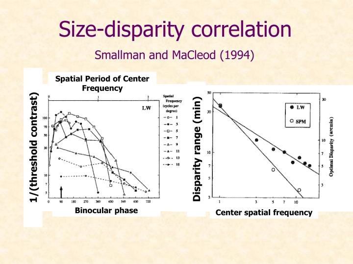 Size-disparity correlation