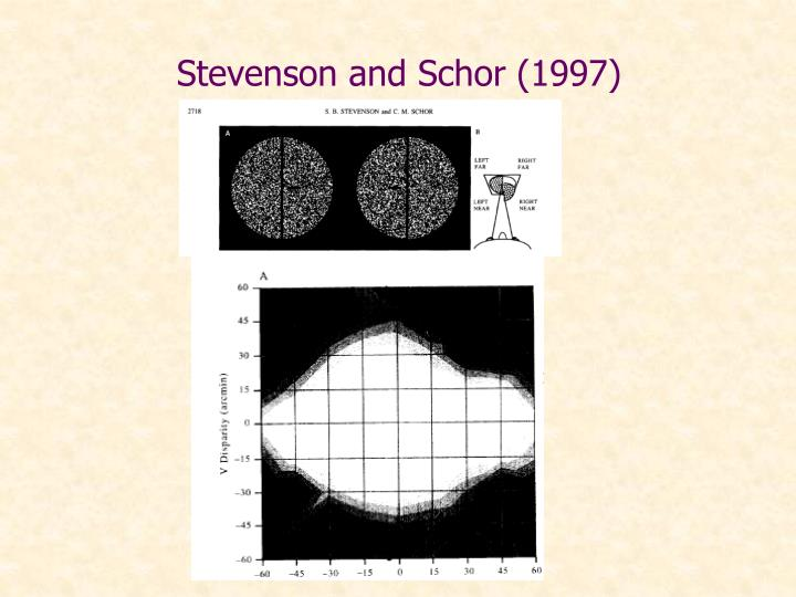 Stevenson and Schor (1997)