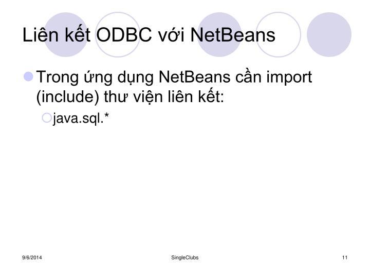 Liên kết ODBC với NetBeans