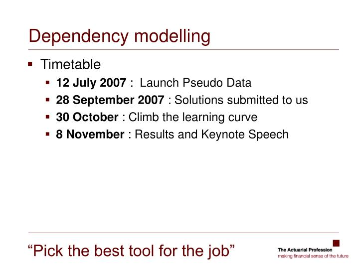 Dependency modelling