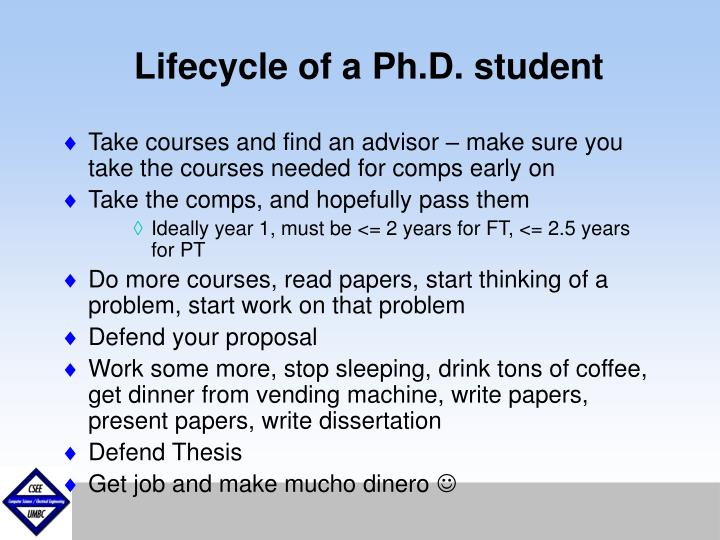 Lifecycle of a Ph.D. student