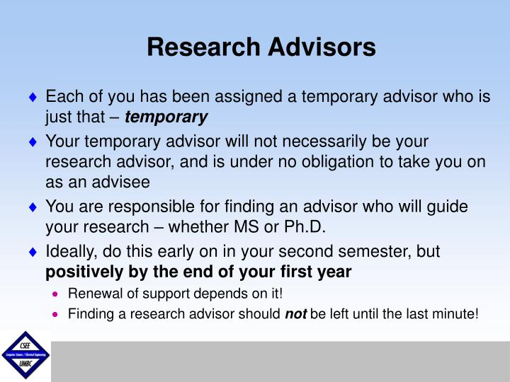 Research Advisors