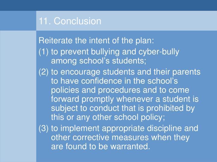 11. Conclusion
