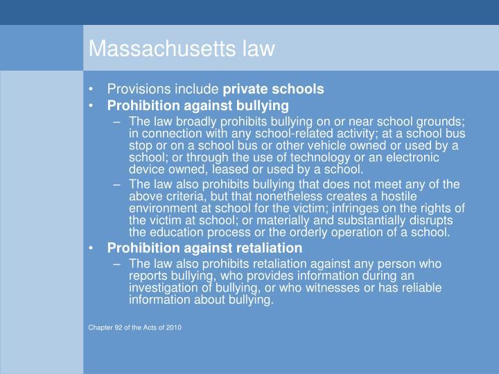 Massachusetts law