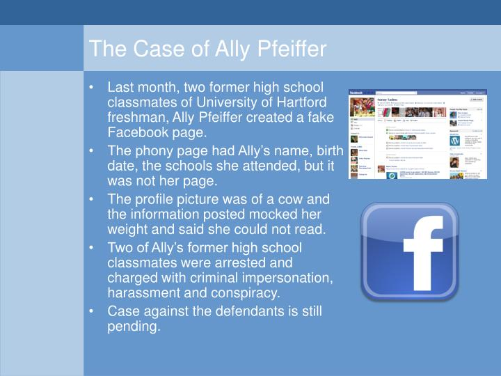 The Case of Ally Pfeiffer