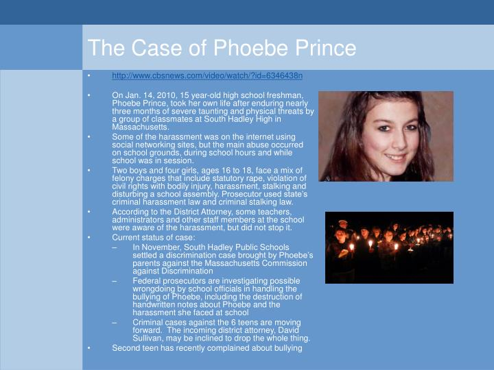 The Case of Phoebe Prince
