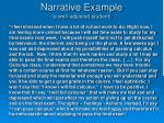 narrative example a well adjusted student