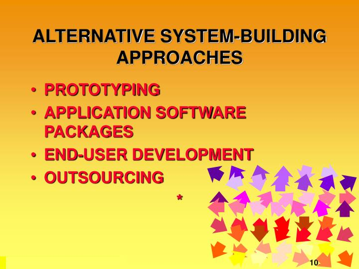ALTERNATIVE SYSTEM-BUILDING APPROACHES