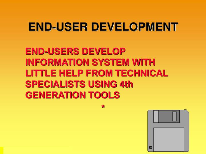 END-USER DEVELOPMENT