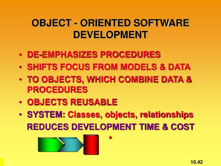 OBJECT - ORIENTED SOFTWARE DEVELOPMENT