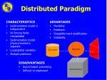 distributed paradigm