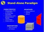 stand alone paradigm