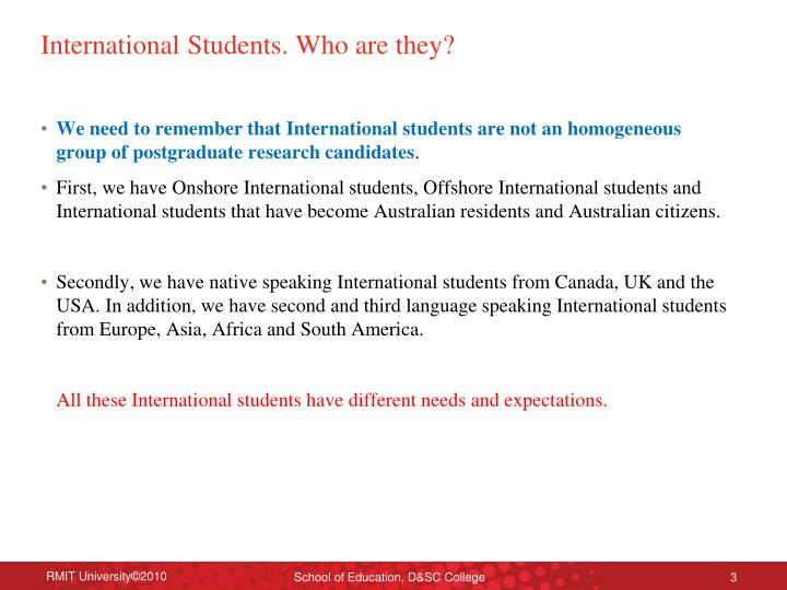 International students who are they