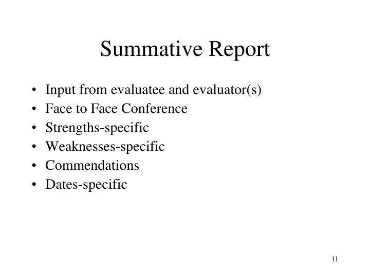 Summative Report