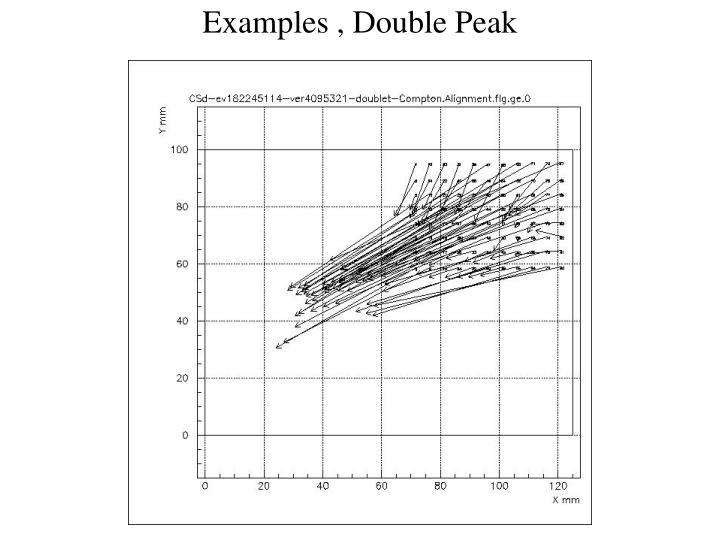 Examples , Double Peak