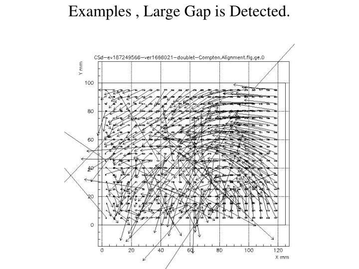 Examples , Large Gap is Detected.