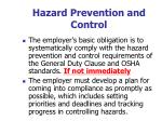 hazard prevention and control2