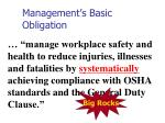 management s basic obligation1