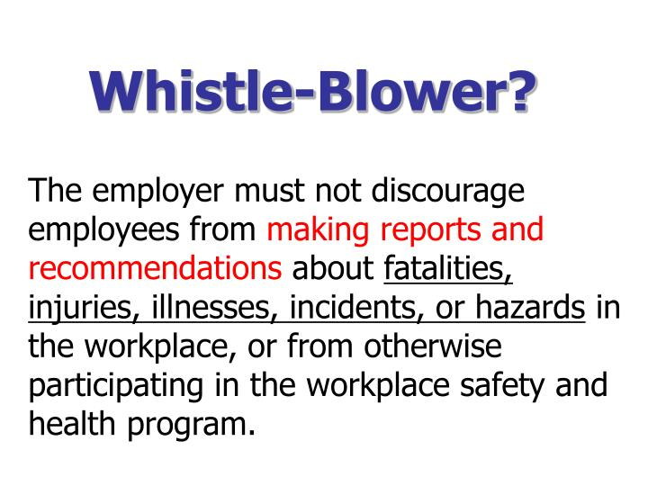 Whistle-Blower?