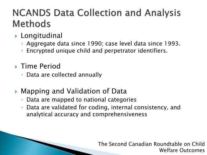 NCANDS Data Collection and Analysis Methods