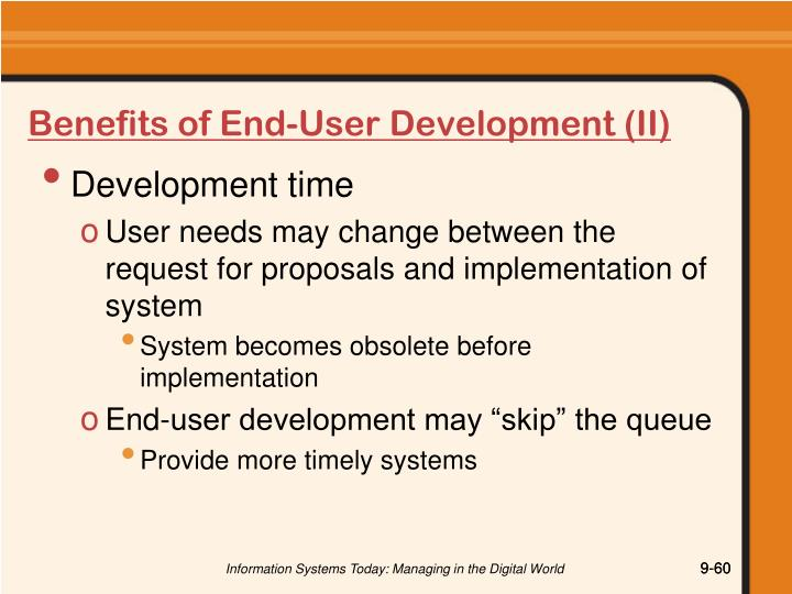 Benefits of End-User Development (II)