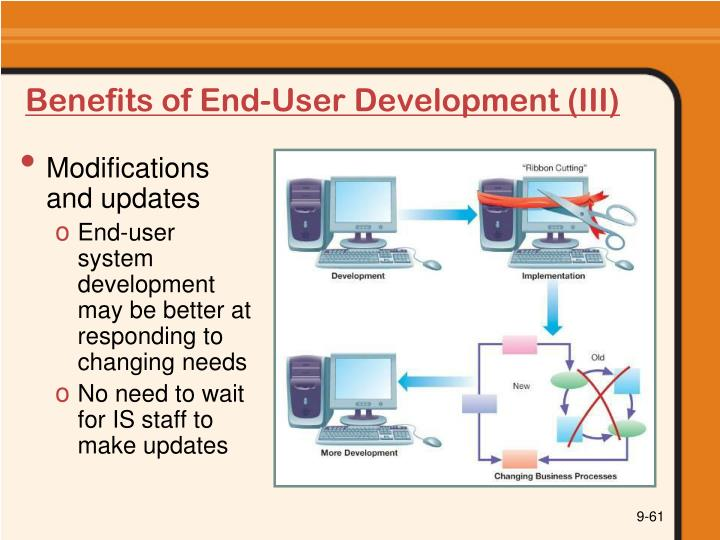 Benefits of End-User Development (III)