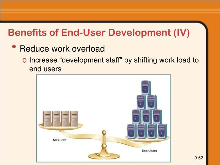 Benefits of End-User Development (IV)