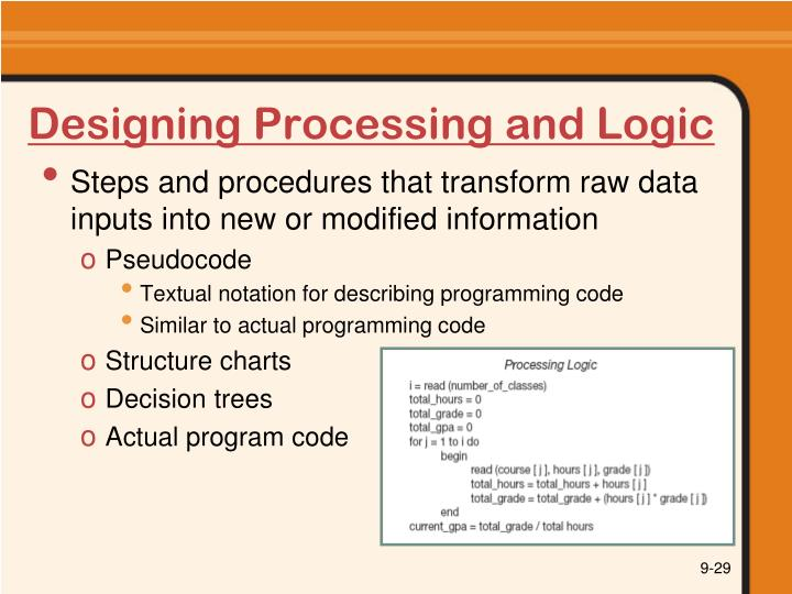 Designing Processing and Logic