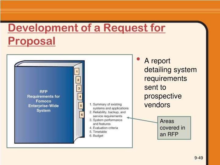 Development of a Request for Proposal