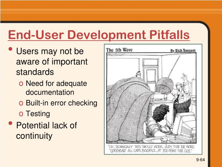 End-User Development Pitfalls