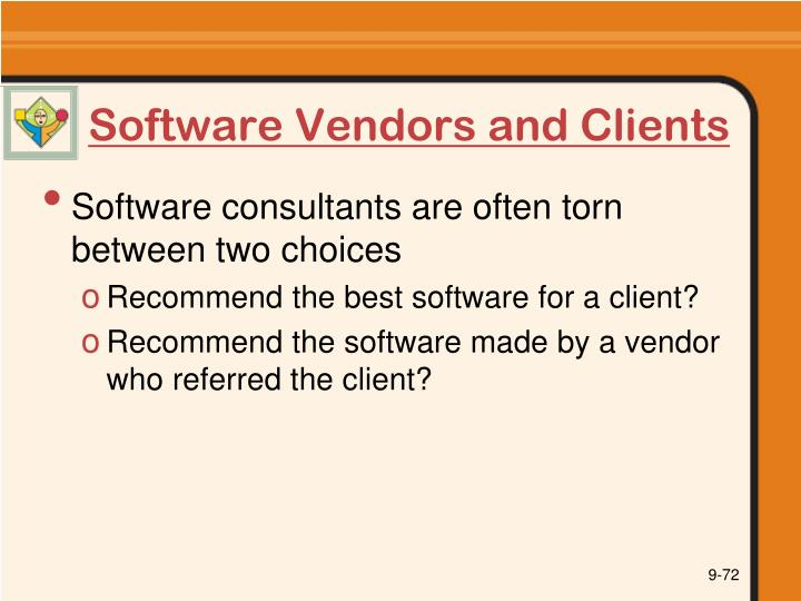 Software Vendors and Clients