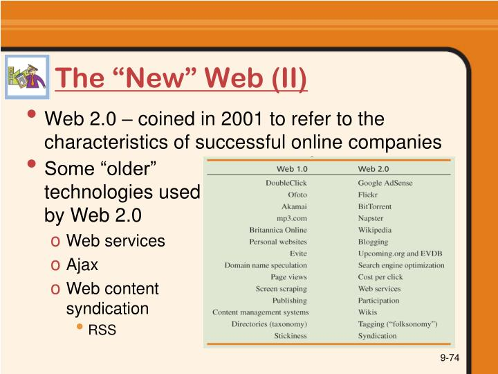 "The ""New"" Web (II)"