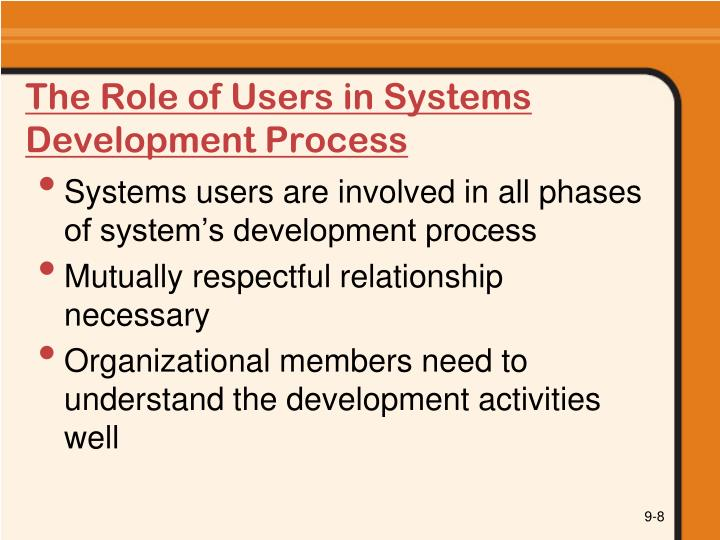 The Role of Users in Systems Development Process