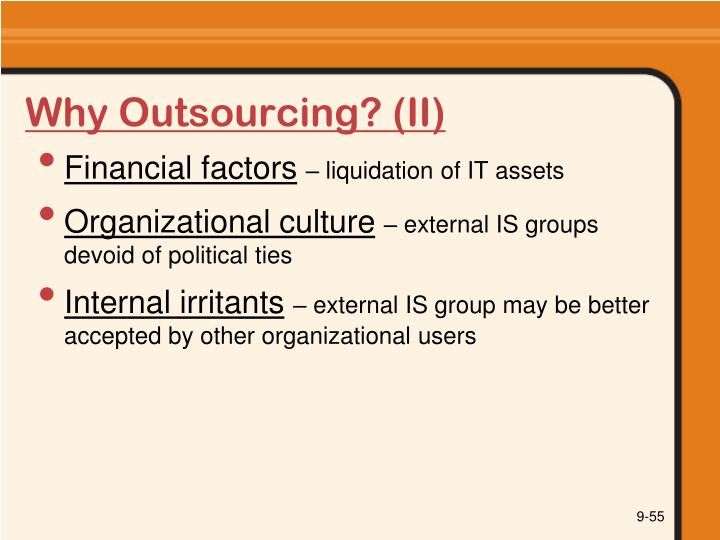 Why Outsourcing? (II)