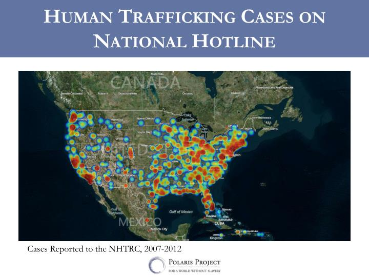 Human Trafficking Cases on National Hotline