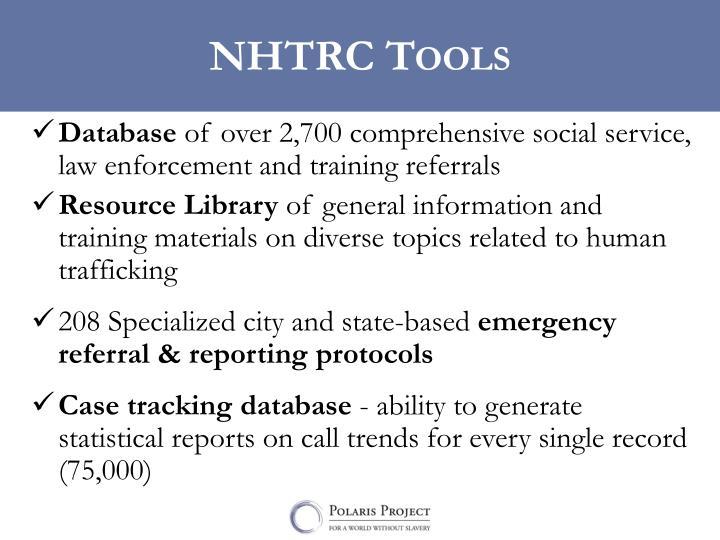NHTRC Tools