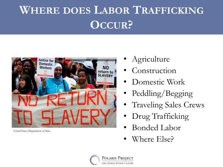 Where does Labor Trafficking Occur?