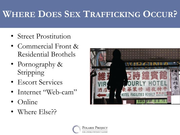 Where Does Sex Trafficking Occur?