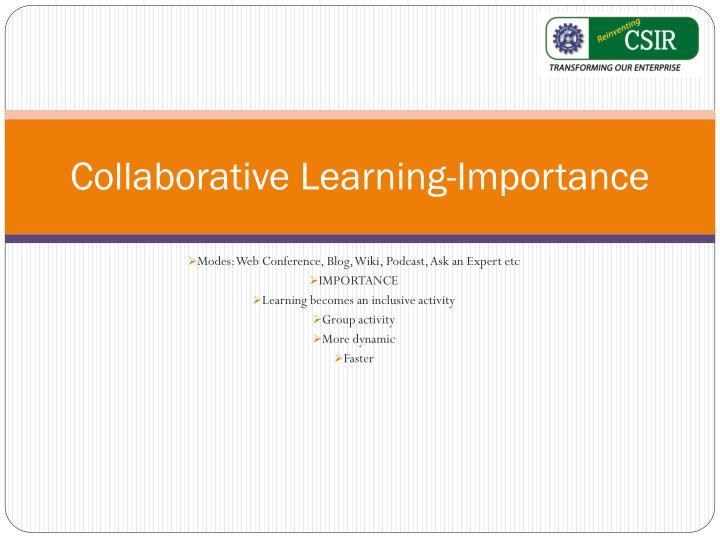 Collaborative Learning-Importance