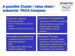 a possible cluster value chain subsector paca compass