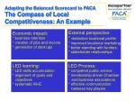 adapting the balanced scorecard to paca the compass of local competitiveness an example