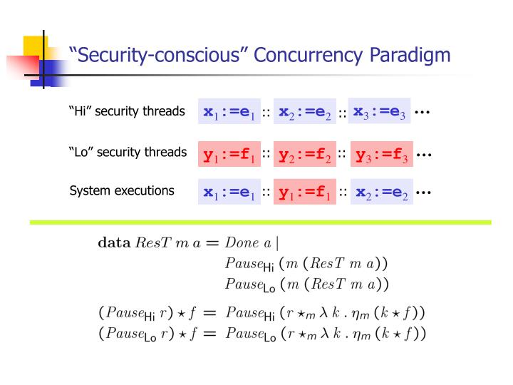 """Security-conscious"" Concurrency Paradigm"