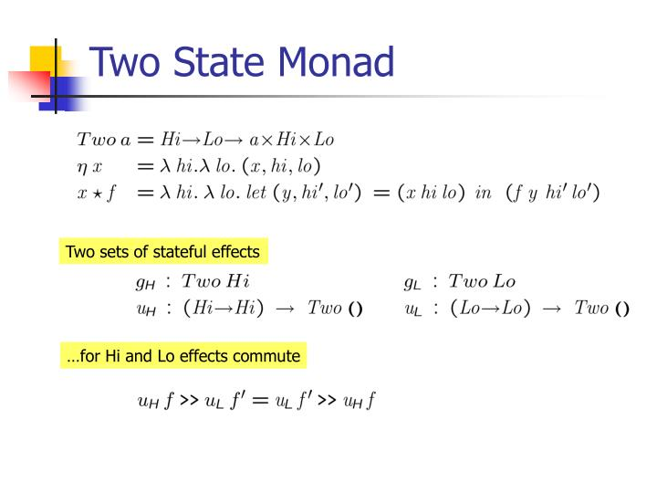 Two State Monad
