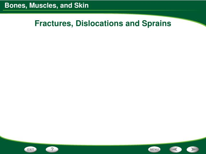 Fractures, Dislocations and Sprains