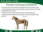 production and storage of substances