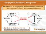 geophysical standards background