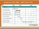 geophysics sig 2008 2009 outline plan